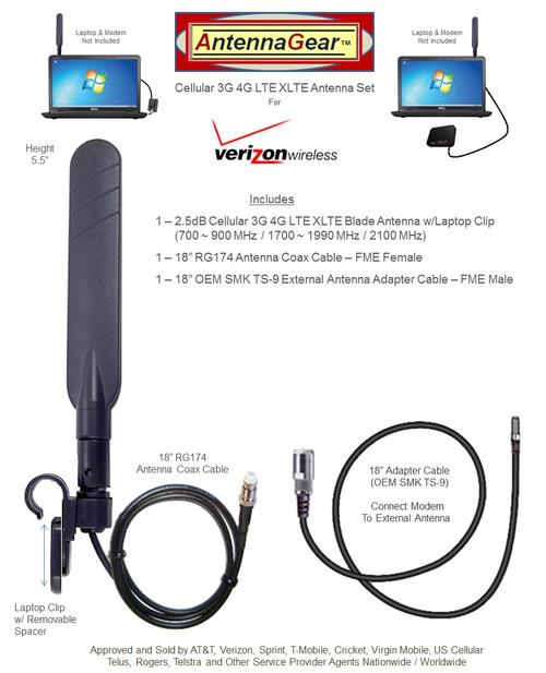Verizon MiFi Jetpack 8800L Hotspot BLADE External Antenna w/Laptop Clip