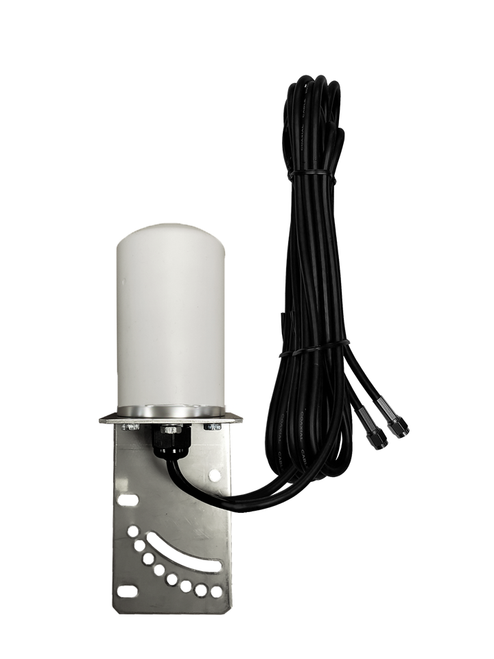 M17 MIMO Omni Directional 2 x Cellular 4G LTE 5G IoT M2M Bracket Mount Antenna w/2 x 16ft Coax Cables - SMA Male for Cradlepoint AER2200 Router