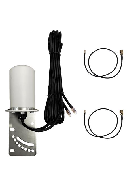 M17B Omni Directional MIMO 2 x Cellular 4G LTE CBRS 5G NR IoT M2M Bracket Mount Antenna w/2 x 16ft Coax Cables for Verizon Novatel Jetpack MiFi 7730L