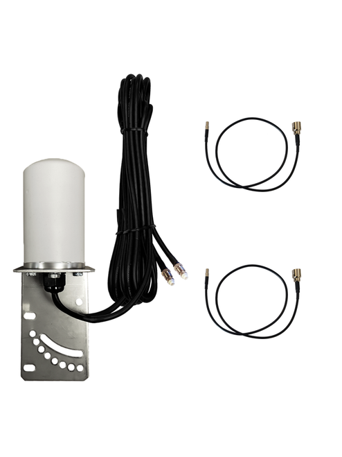 7dBi AT&T MF985 Velocity 2 Hotspot Omni Directional MIMO Dual Cellular 4G 5G LTE Antenna w/2 x 16 FT Coax Cables.