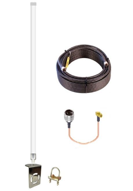 12dB Fiberglass 4G LTE XLTE Antenna Kit For Verizon Novatel T2000 w/ Cable Length Options