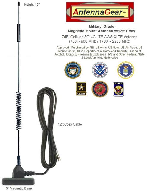 HD 7dBi Military Grade Cellular Broadband 3G 4G 5G External Antenna SMA-M for BEC MX-210 Router