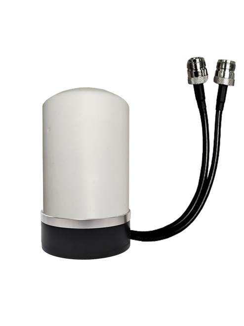 M17M MIMO Omni Directional 2 x Cellular 4G LTE CBRS 5G IoT M2M Magnetic Mount Antenna w/2 x 1ft Coax Cables - N Female