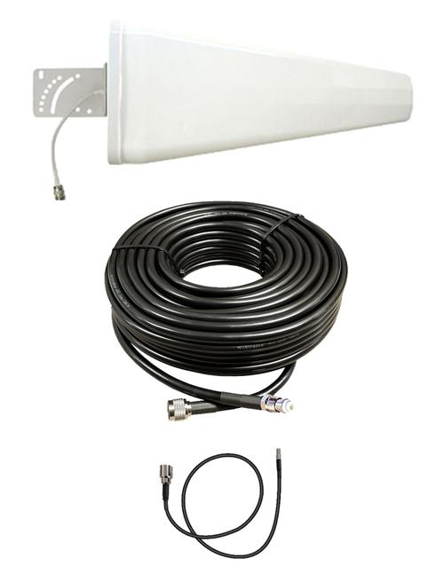 M12-YAGI 12dBi Log Periodic Directional Cellular 4G LTE CBRS 5G M2M IoT Antenna Bundle w/Coax Cable Kit Options for Verizon Novatel Jetpack MiFi 7730L