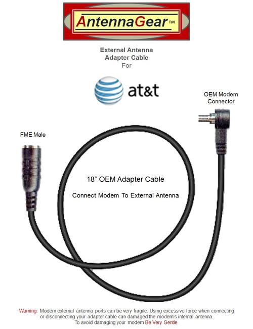 AT&T Unite NETGEAR 781S Mobile Hotspot External Antenna Adapter Cable