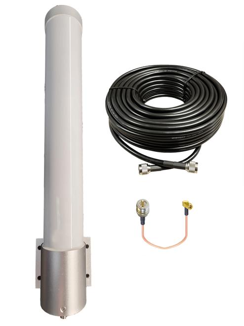 Sierra Wireless RV50 - M25 Omni Directional Fiberglass Cellular 4G 5G LTE Band 71 External Data M2M IoT Antenna - NF - Kit