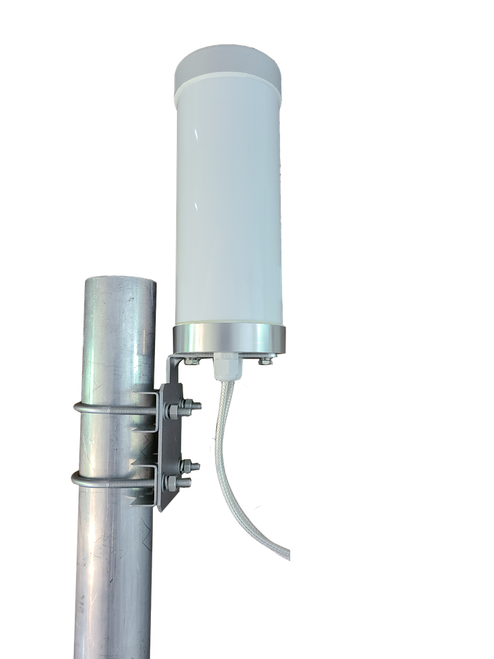 BEC MX-240 - M29 MIMO Omni Directional Cellular 3G 4G 5G LTE Band 71 External Data M2M IoT Antenna - 2x 16ft SMA-M - Pole Mount