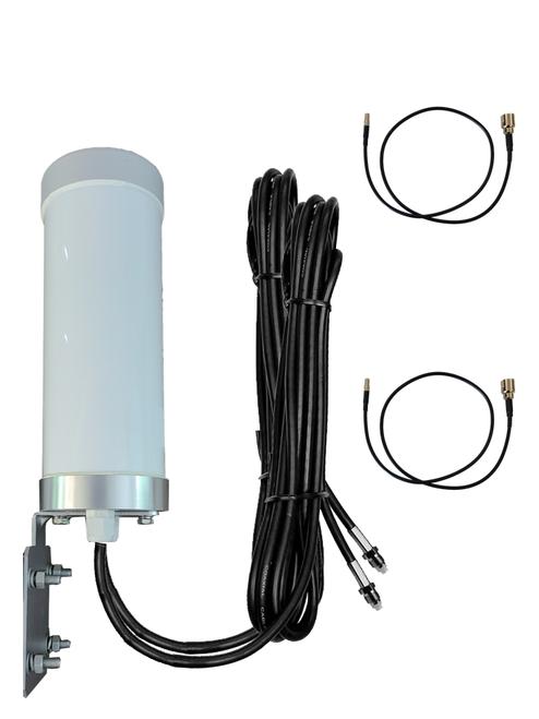 M29 Omni Directional MIMO 2 x Cellular 4G LTE CBRS 5G NR M2M IoT Bracket Mount Antenna w/2 x 16ft Coax Cables for Verizon Novatel Jetpack MiFi 7730L - Main