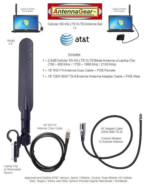AT&T Netgear Nighthawk 5G MR5100-Pro BLADE External Antenna w/Laptop Clip