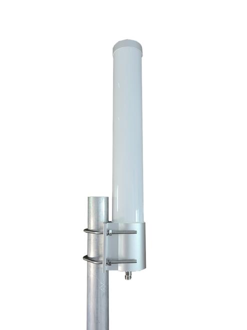 M25 Omni Directional Cellular 4G LTE CBRS 5G NR Antenna w/ Bracket Mount  - Pole Mount (Includes L-Bracket Mount Hardware)
