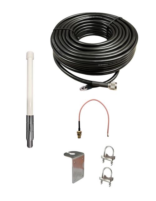 M1000 Omni Directional Fiberglass Cellular 4G LTE CBRS 5G NR M2M IoT Antenna w/Coax Cable Kit Options for T-Mobile 5G Internet Gateway