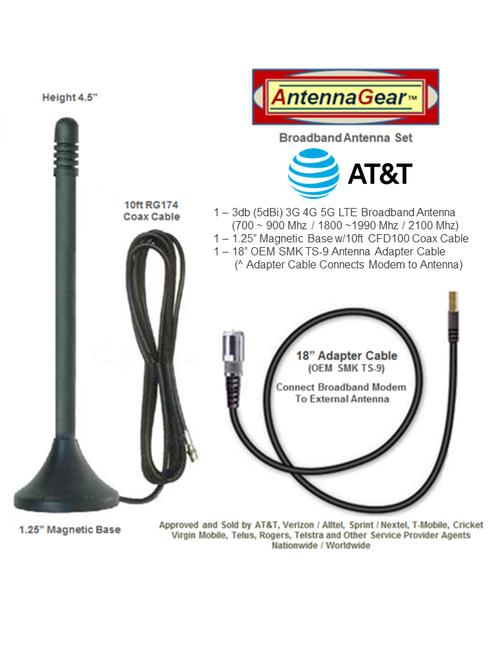 3dB AT&T Beam NETGEAR AC340U 340U USB Modem External Antenna