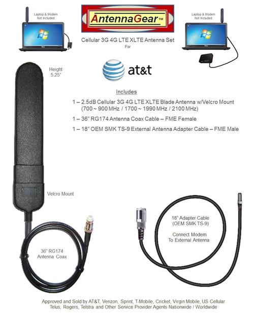 AT&T Beam NETGEAR 340U USB Modem BLADE External Antenna w/Velcro Mount