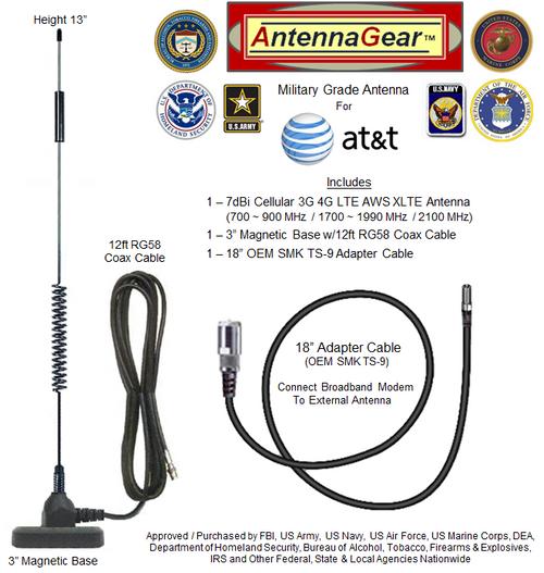 HD 7dBi AT&T Unite NETGEAR AC770s Mobile Hotspot External Antenna