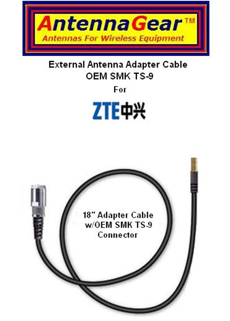 ZTE MF668 USB Modem Rogers Rocket Stick Antenna Adapter Cable SMK TS-9