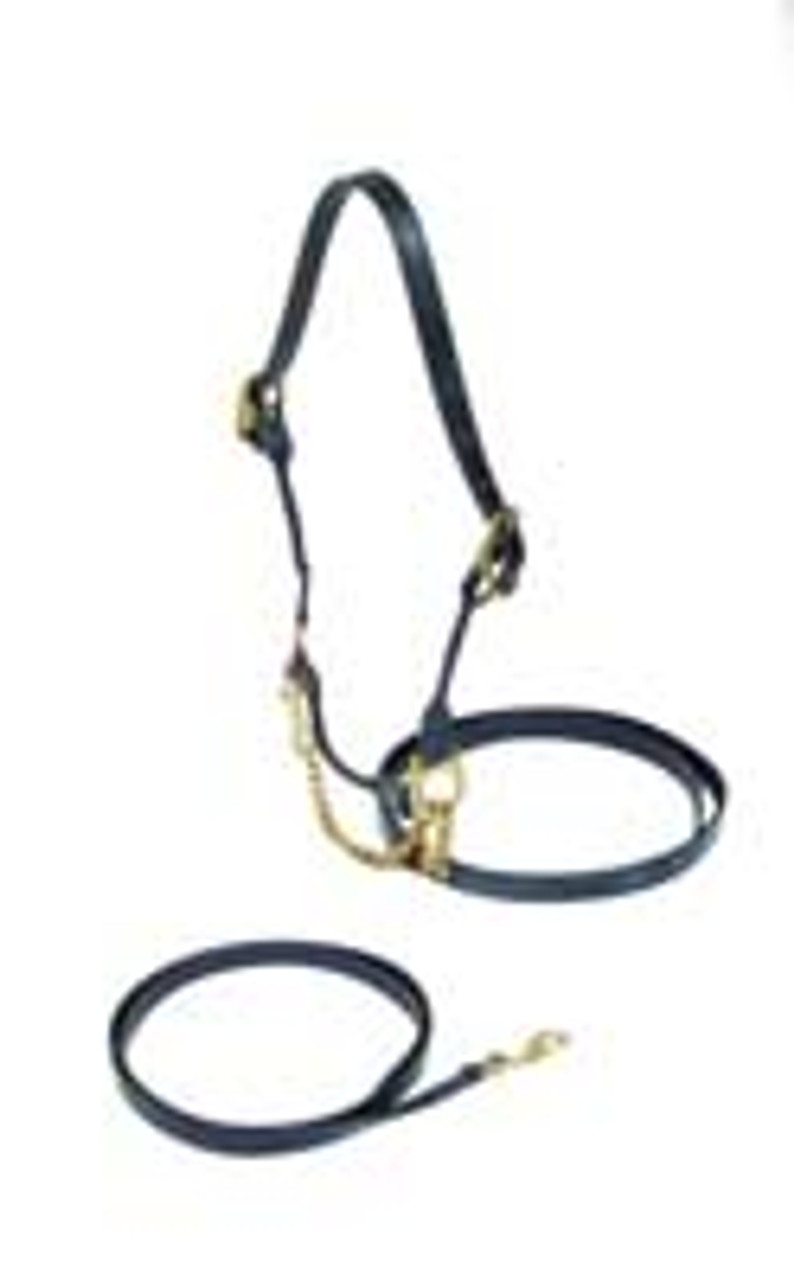 Deluxe Rolled Show Halter - INDIAN LEATHER