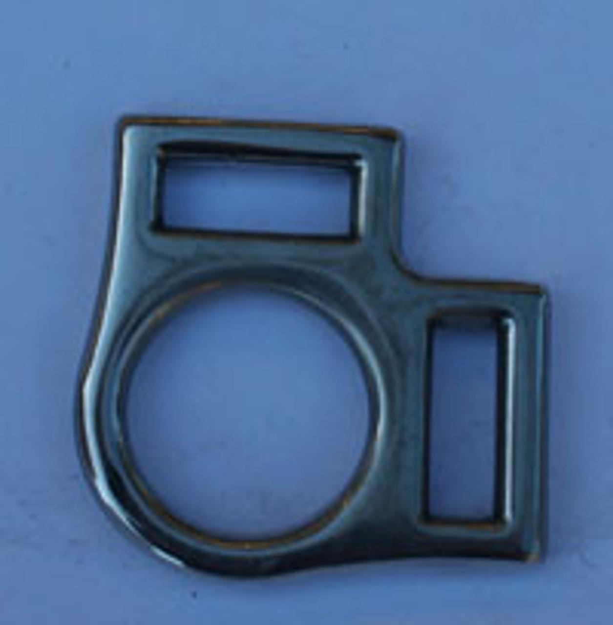 """2 Loop Halter Square 3/4"""" Stainless Steel"""