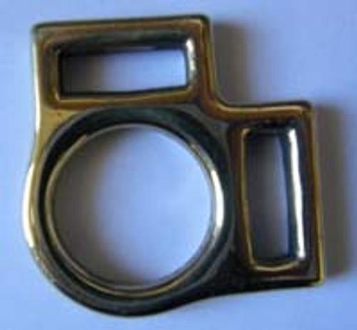 2 Loop Halter Square 3/4 Brass
