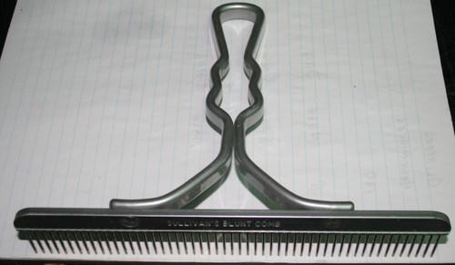 Sullivan Blunt Tooth Comb Aluminium Handle