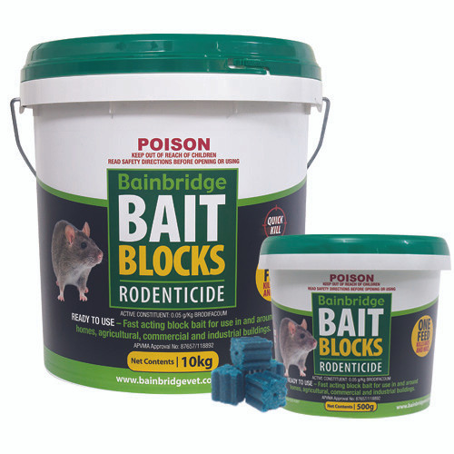 Bainbridge Rodent Bait Blocks 3kg Bucket