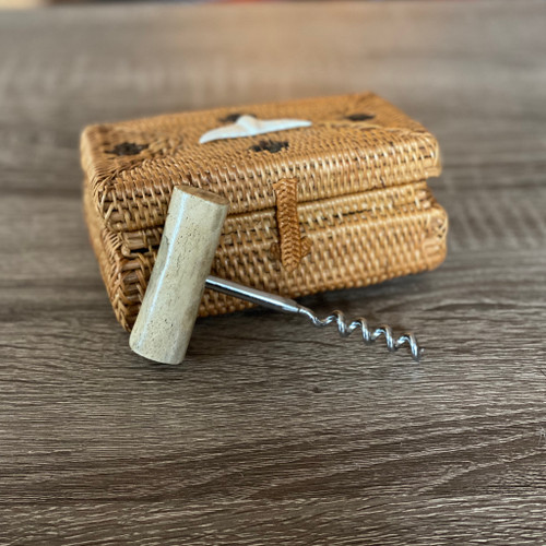 Oosik Corkscrew with Sweetgrass Basket
