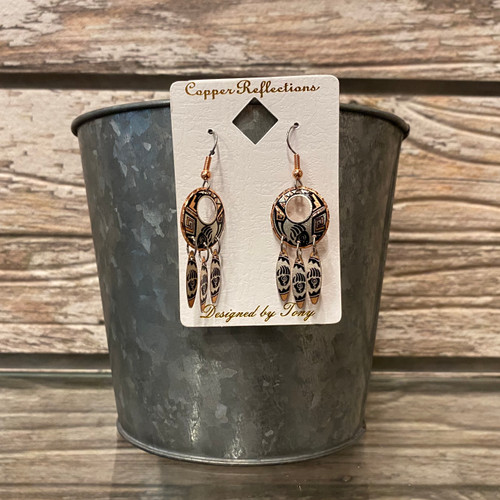 Copper Earrings Dreamcatcher