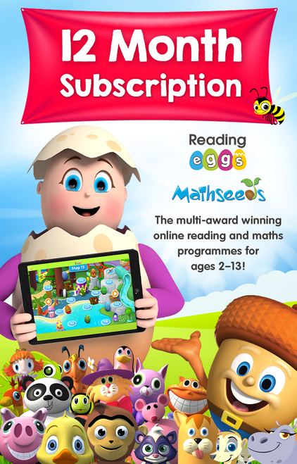Reading Eggs + Mathseeds 12 Month Combined Subscription