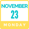 Monday, November 23 | 9:00am - 3:00pm