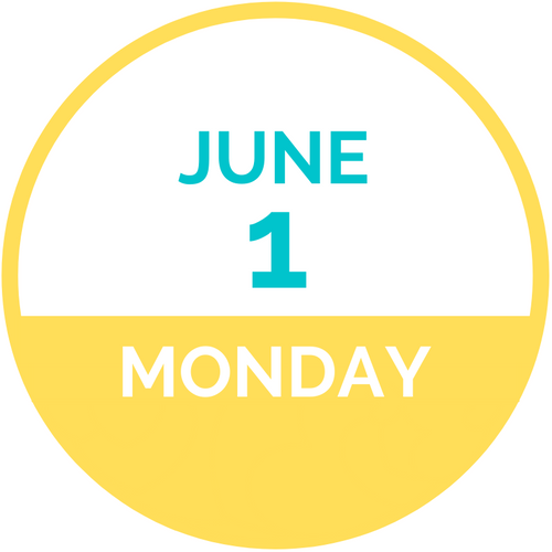 Monday, June 1 2020