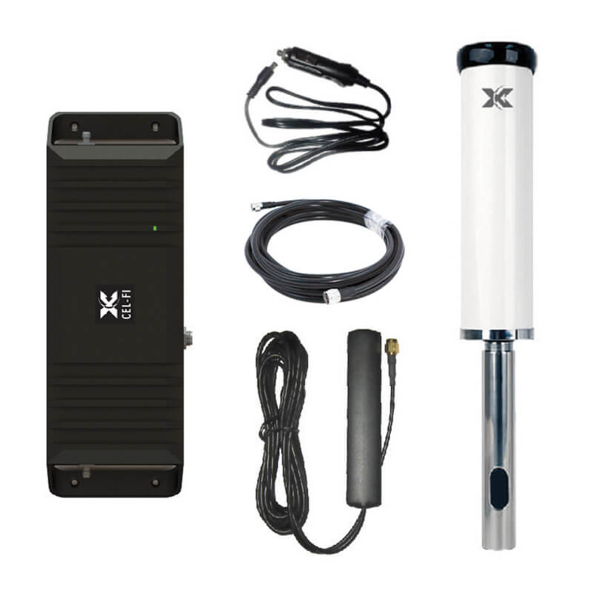 Cel-Fi GO+ Vehicle Smart Signal Booster with Marine Antenna Kit
