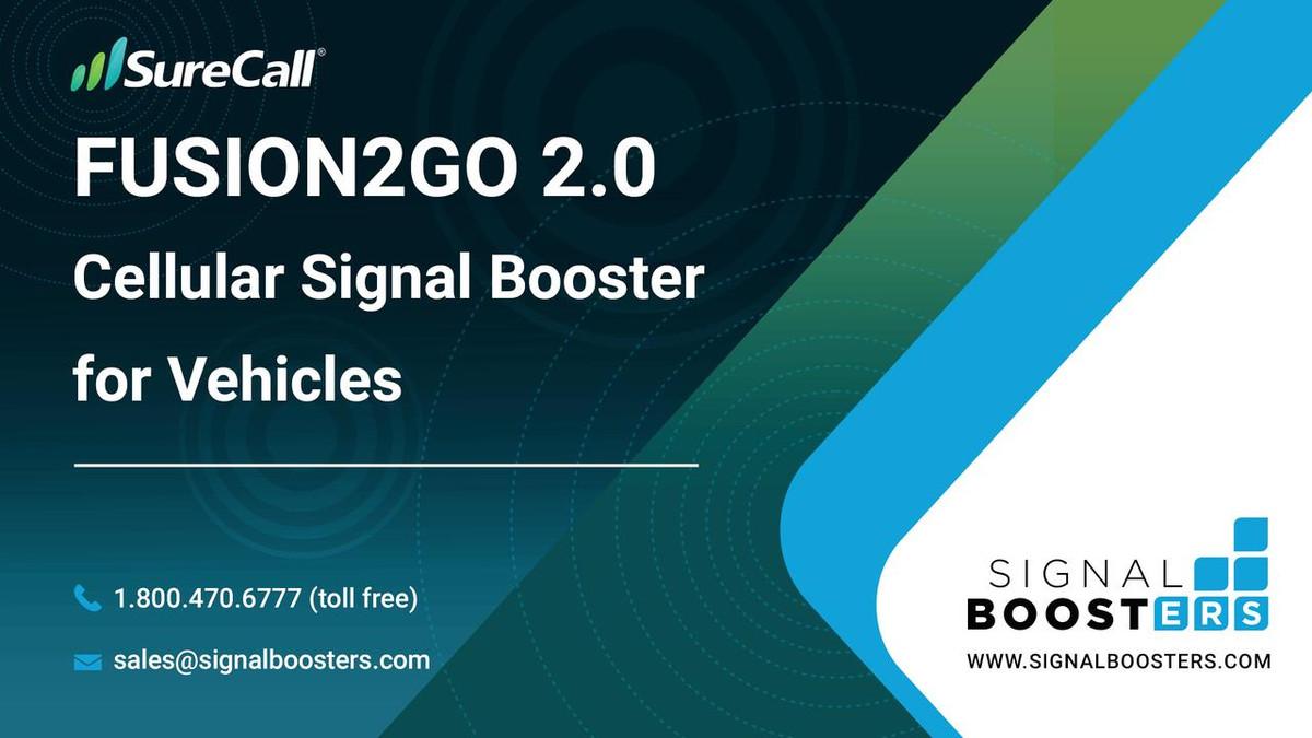 SureCall SureCall Fusion2Go 3.0 Fleet 4G Cell Phone Booster Kit