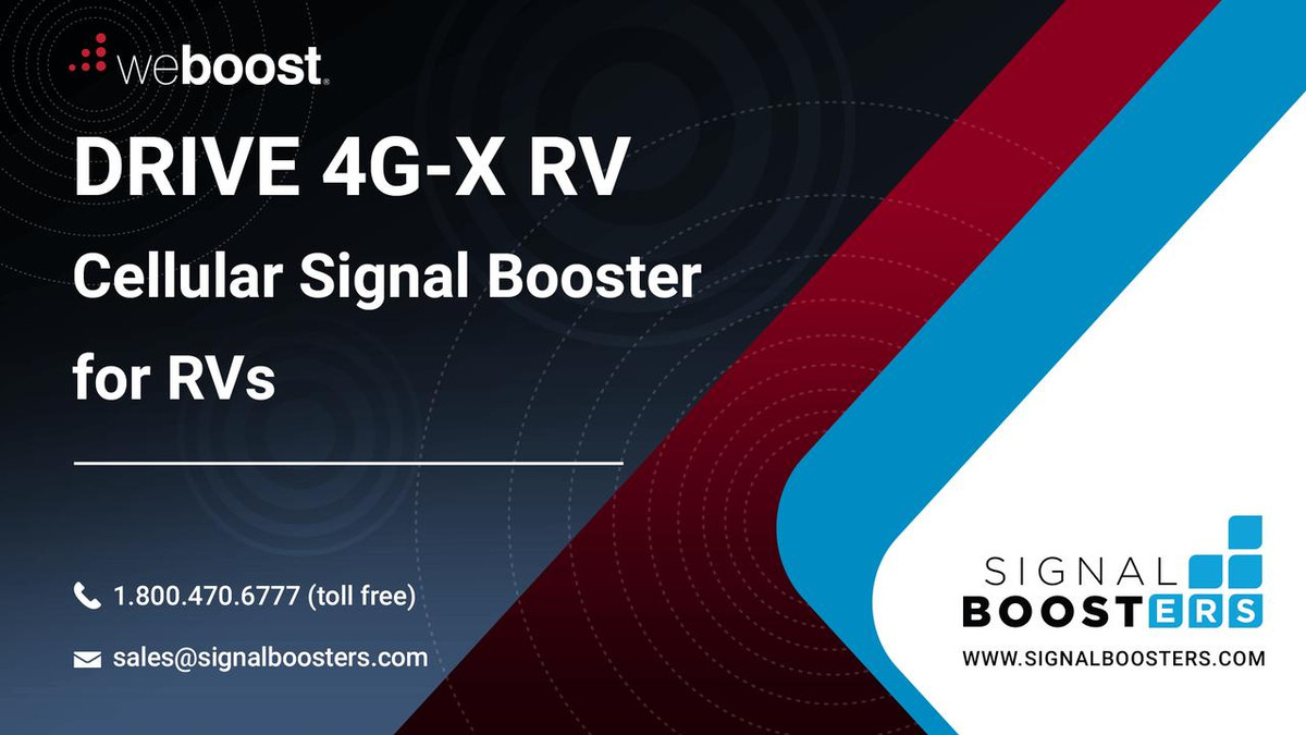 weBoost weBoost Drive X RV Cell Phone Signal Booster Kit or 471410