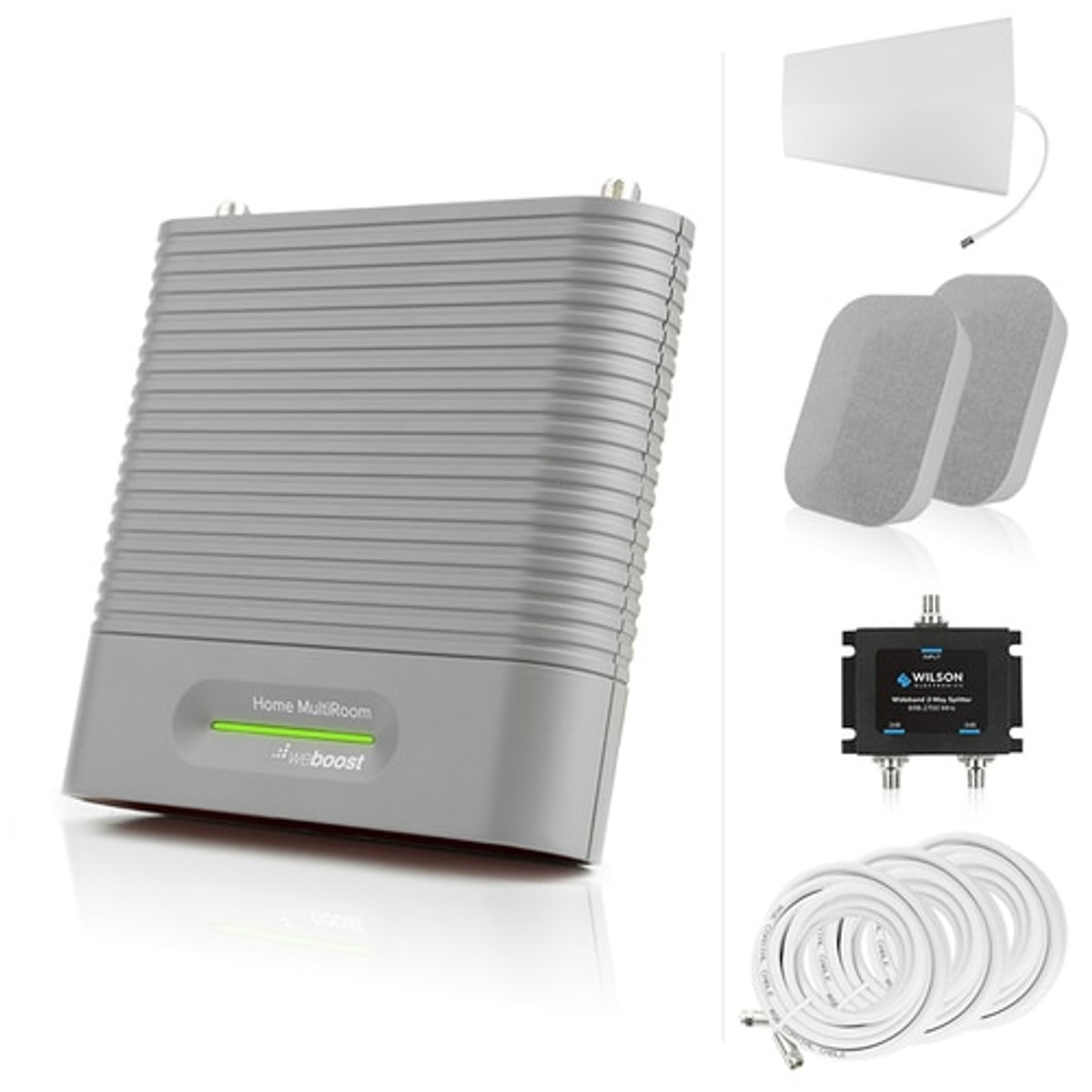 weBoost Home MultiRoom Signal Booster - 470144 & Antenna Expansion Bundle