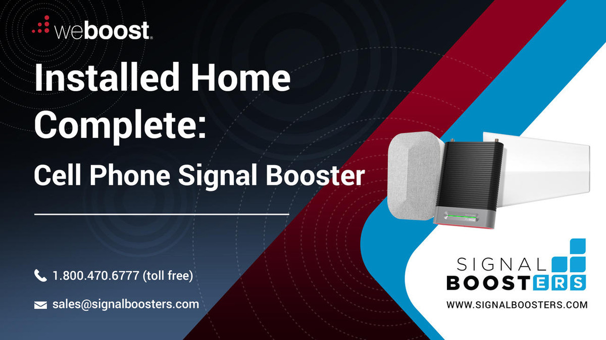 weBoost weBoost Installed Home Complete Cell Phone Signal Booster Kit or 474445