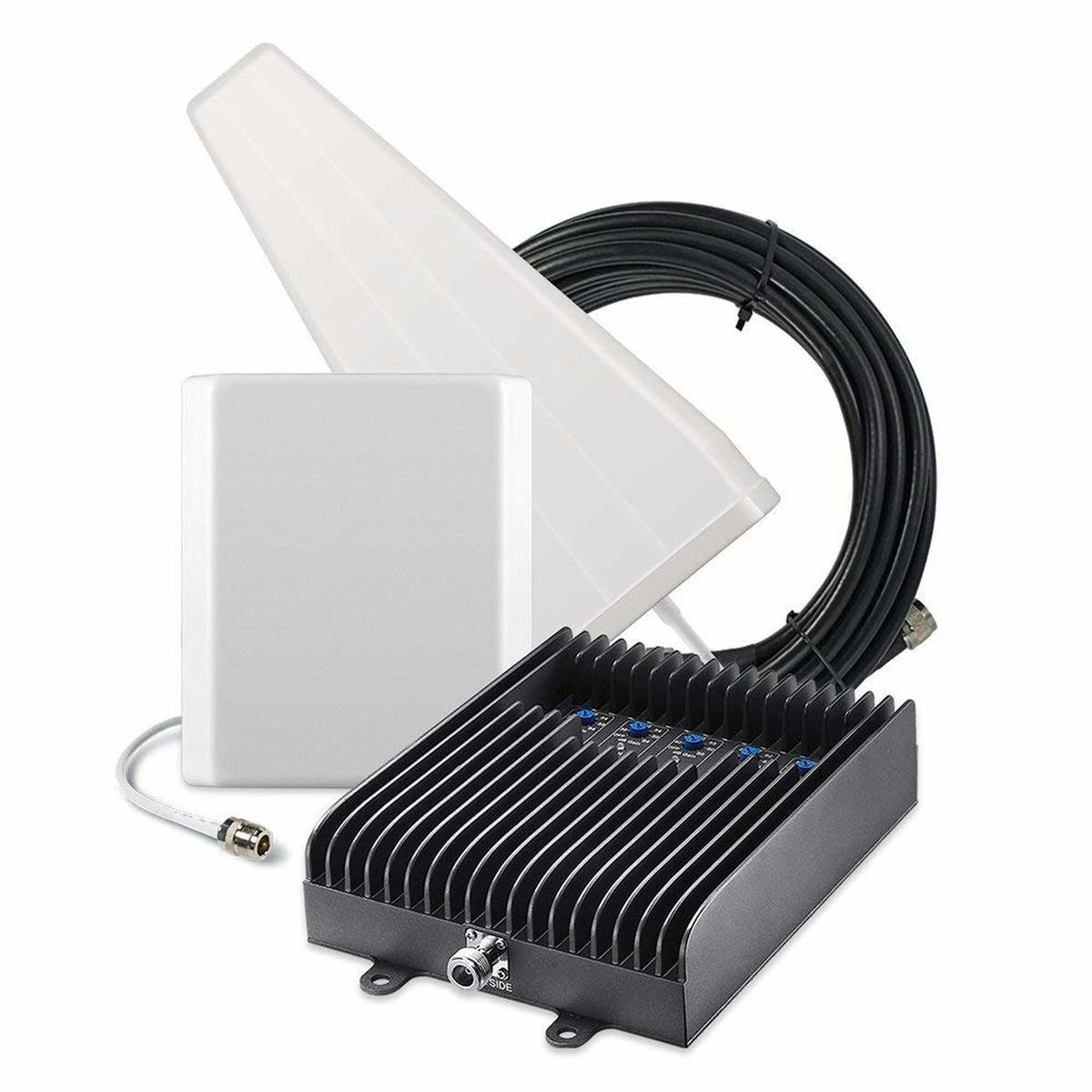 SureCall Fusion5s Signal Booster Kit w/ Outdoor Yagi & Indoor Panel Antennas