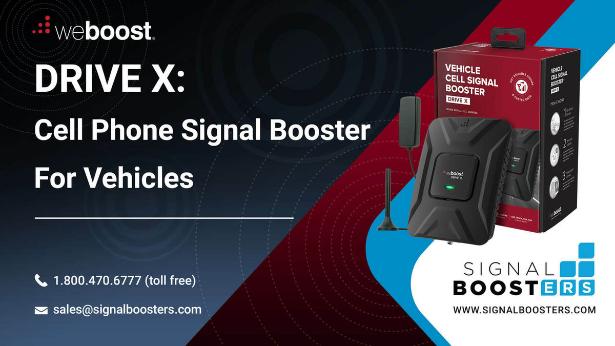 weBoost weBoost Drive X Cell Phone Signal Booster Kit, Refurbished or 475021R