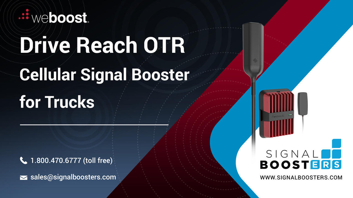 weBoost weBoost Drive Reach OTR Cell Phone Signal Booster Kit or 477154