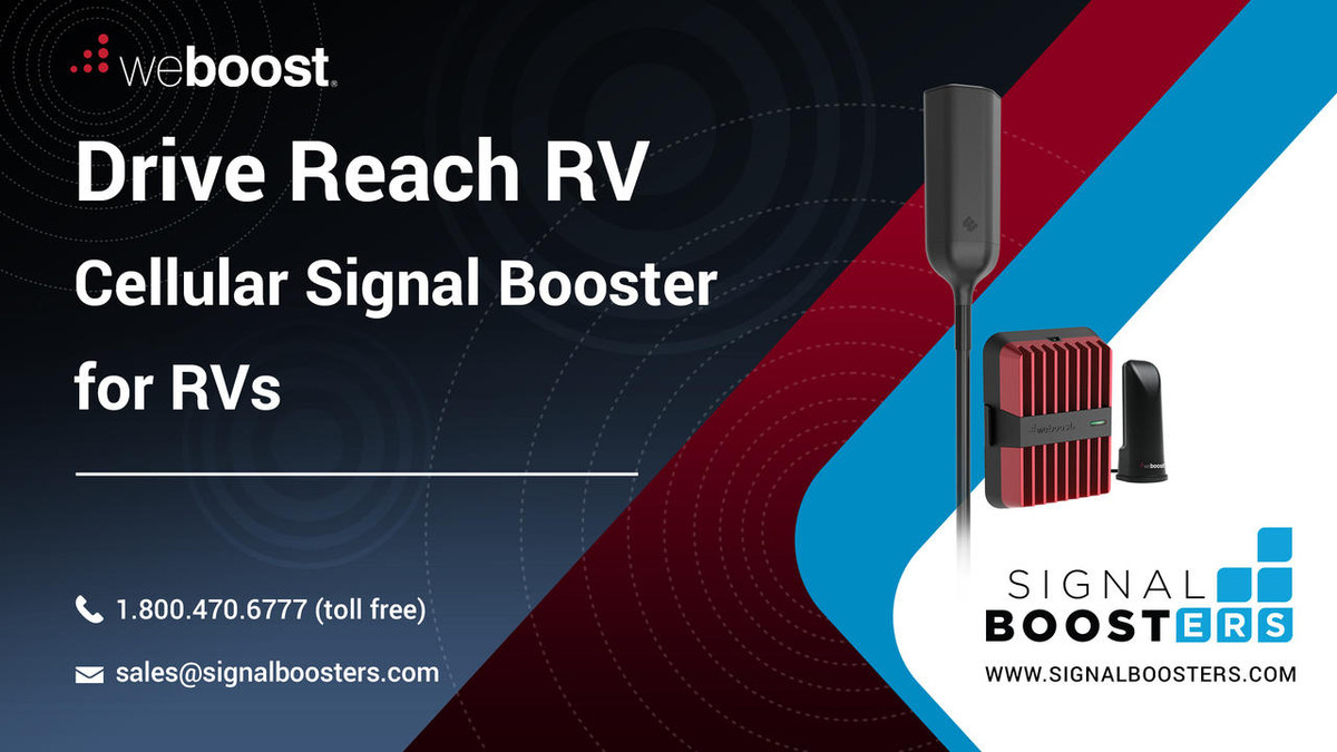 weBoost weBoost Drive Reach RV Cell Phone Signal Booster Kit or 470354