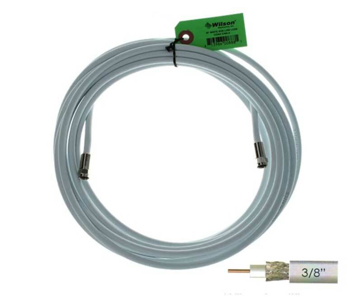 Wilson Electronics weBoost Wilson 950630 RG6 F-Male to F-Male or 30 ft White Cable