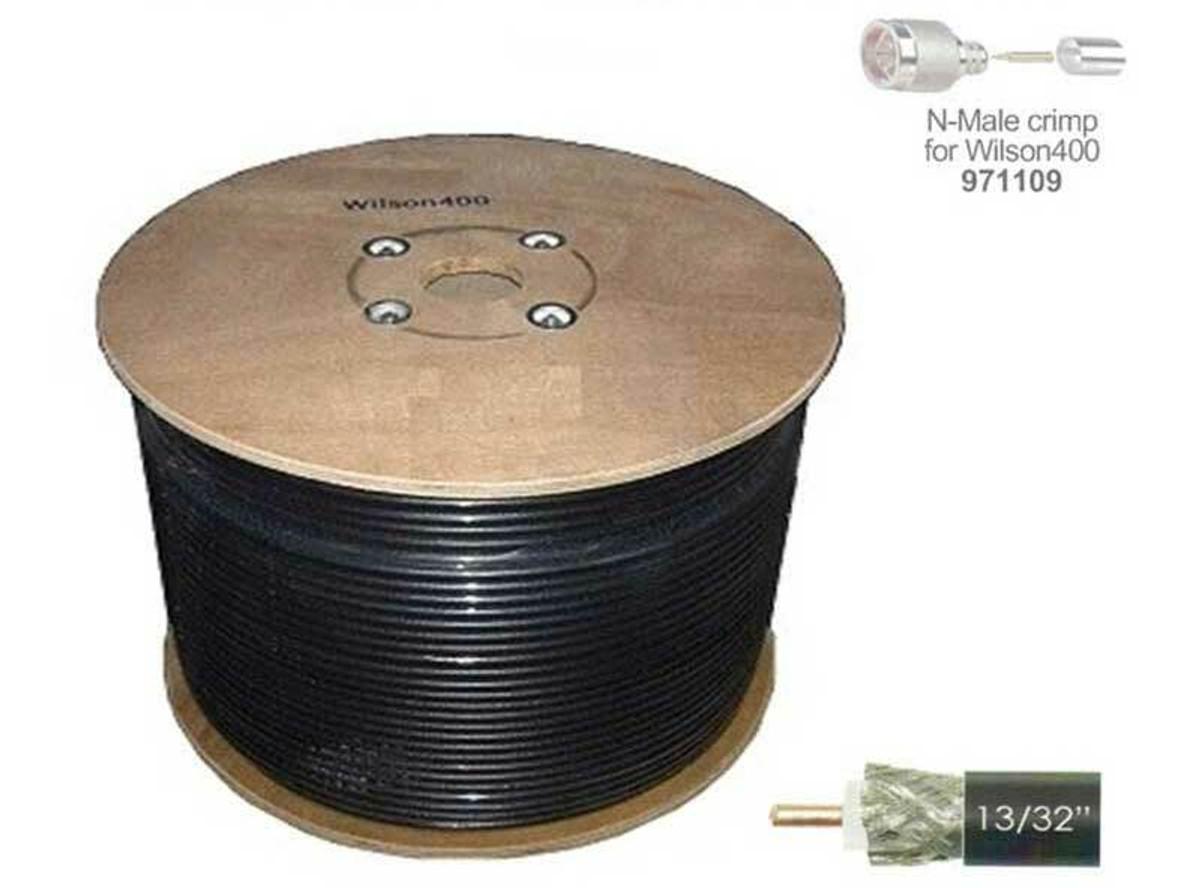Wilson Electronics weBoost Wilson 952305 Wilson 400 no connectors 500 ft Black Cable Spool