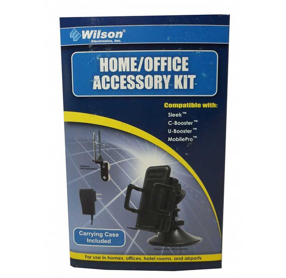 Wilson 859970 Home & Office Accessory Kit for use with Sleek amplifiers, front of retail box