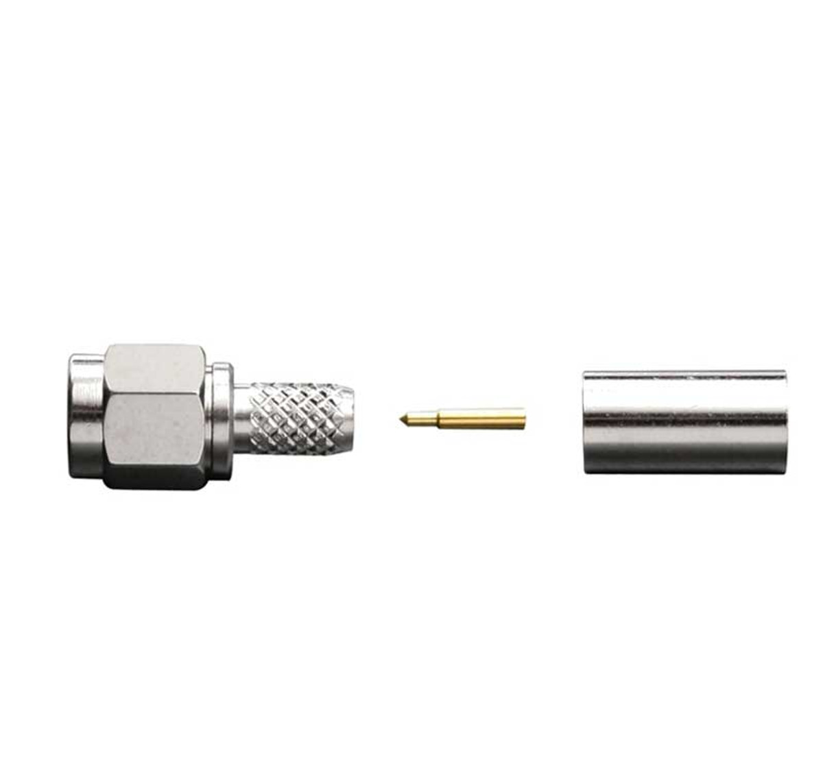 Wilson 971131 SMA Male to RG58 Crimp Connector, detail