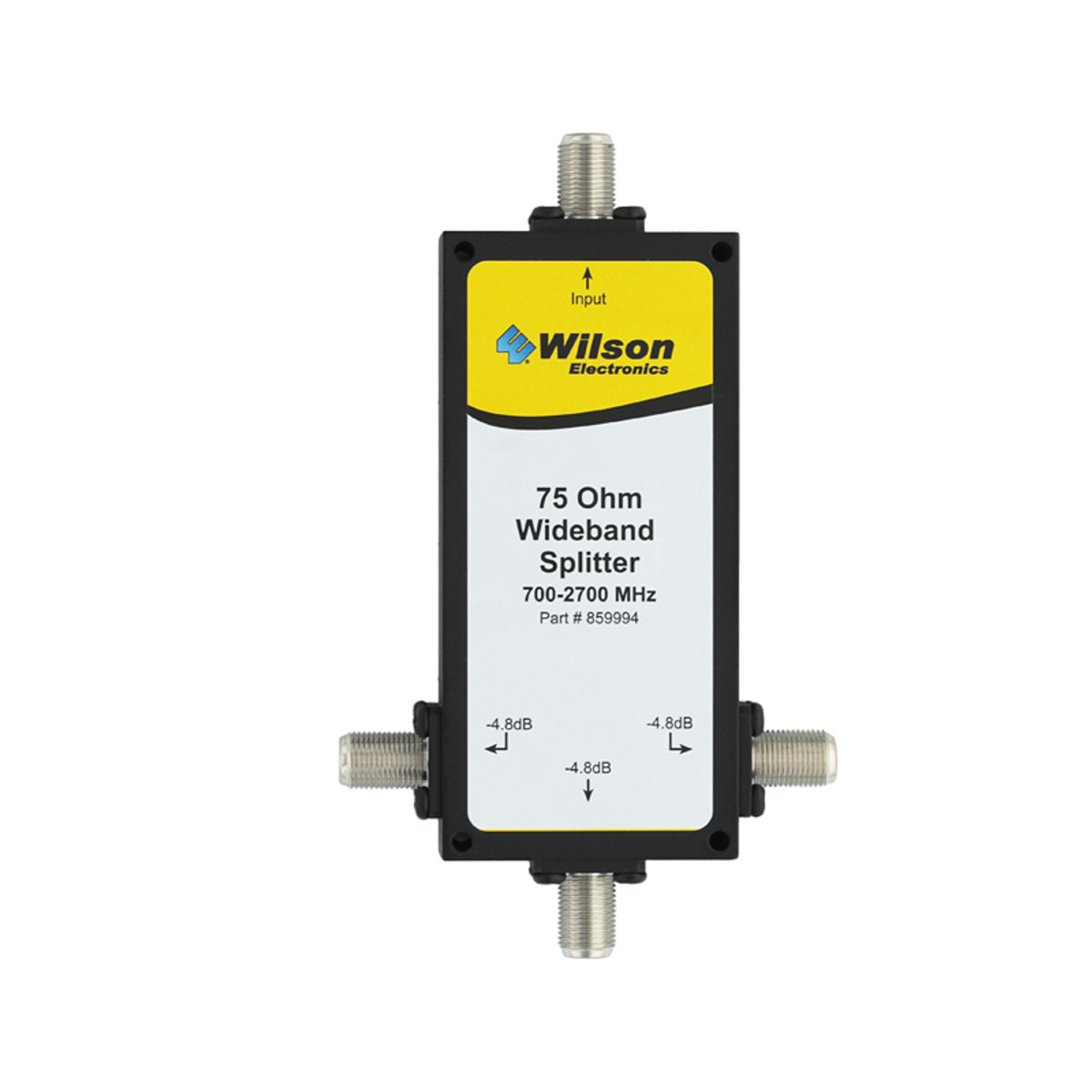 Wilson 859994 3-Way Splitter 75 Ohm, Front