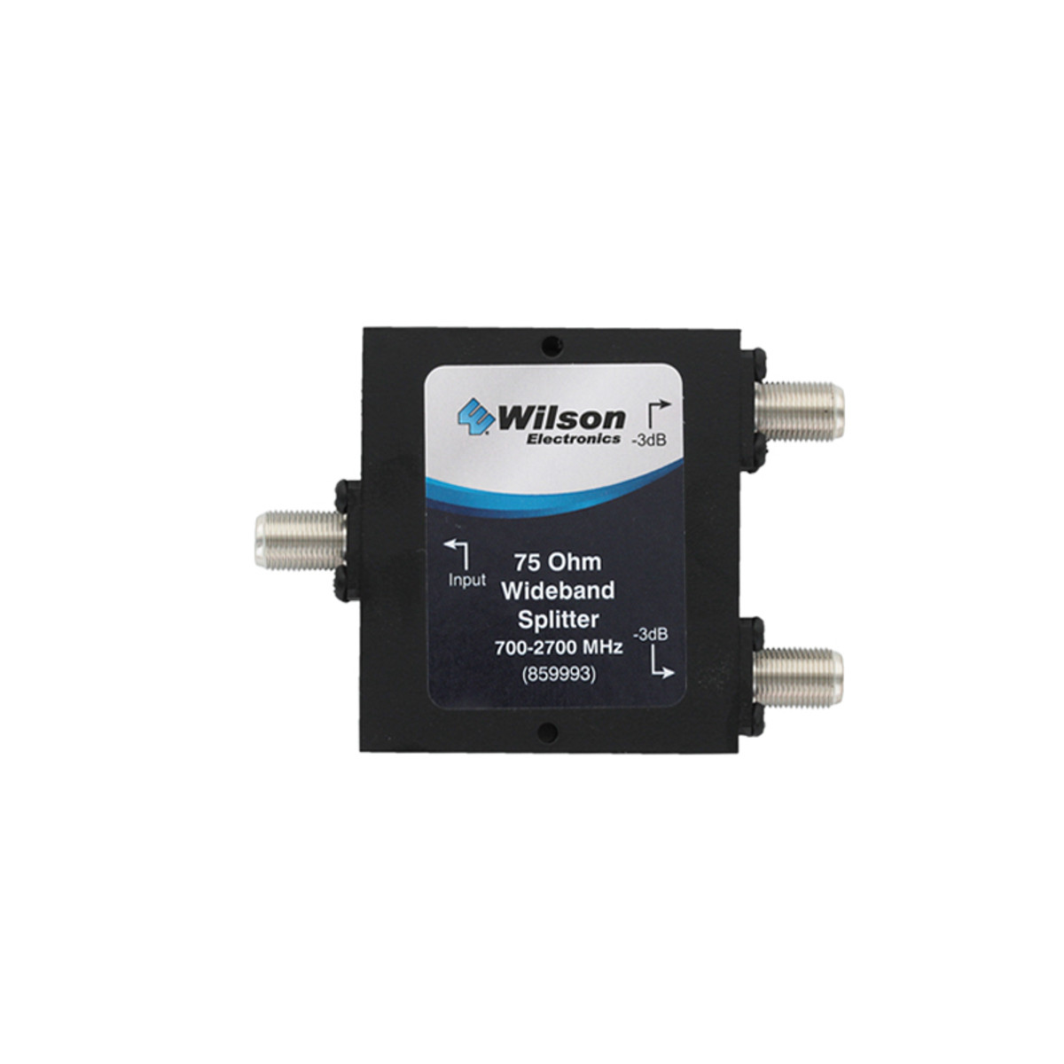Wilson 859993 -3 dB Splitter 75ohm Wide Band 700-2500 Mhz, Front