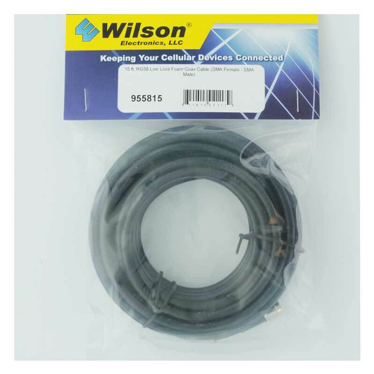 Wilson Electronics weBoost Wilson 955815 RG58 Extension SMA Female to SMA Male or 15 ft Black Cable
