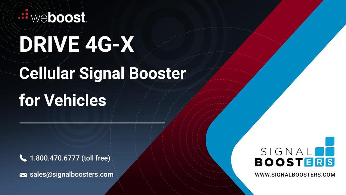 weBoost Wilson weBoost Drive 4G-X RV Trucker Essentials Kit or 470510-RV