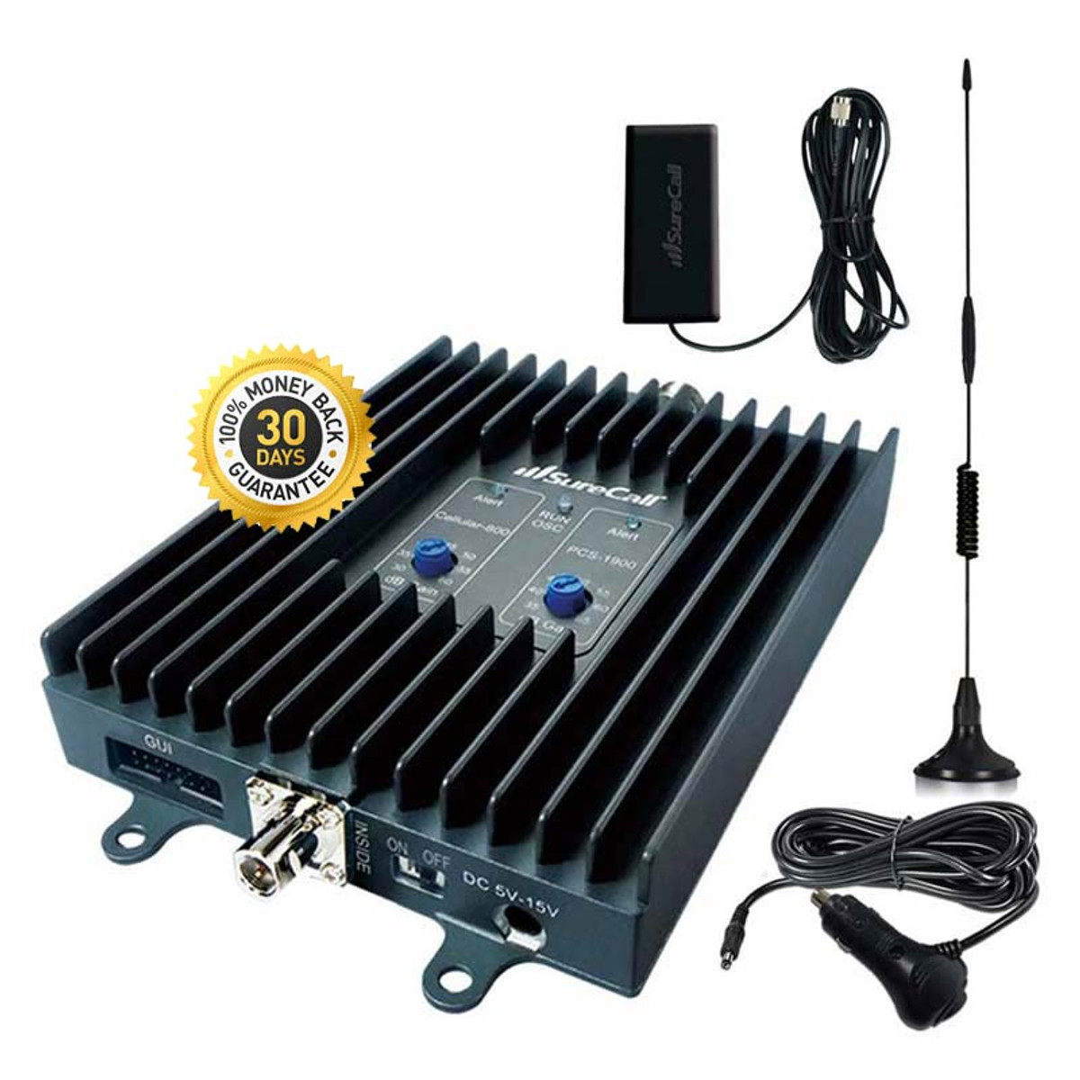 SureCall Flex2Go 3G Cell Phone Signal Booster (SC-DualM-50-KIT) | Complete Kit