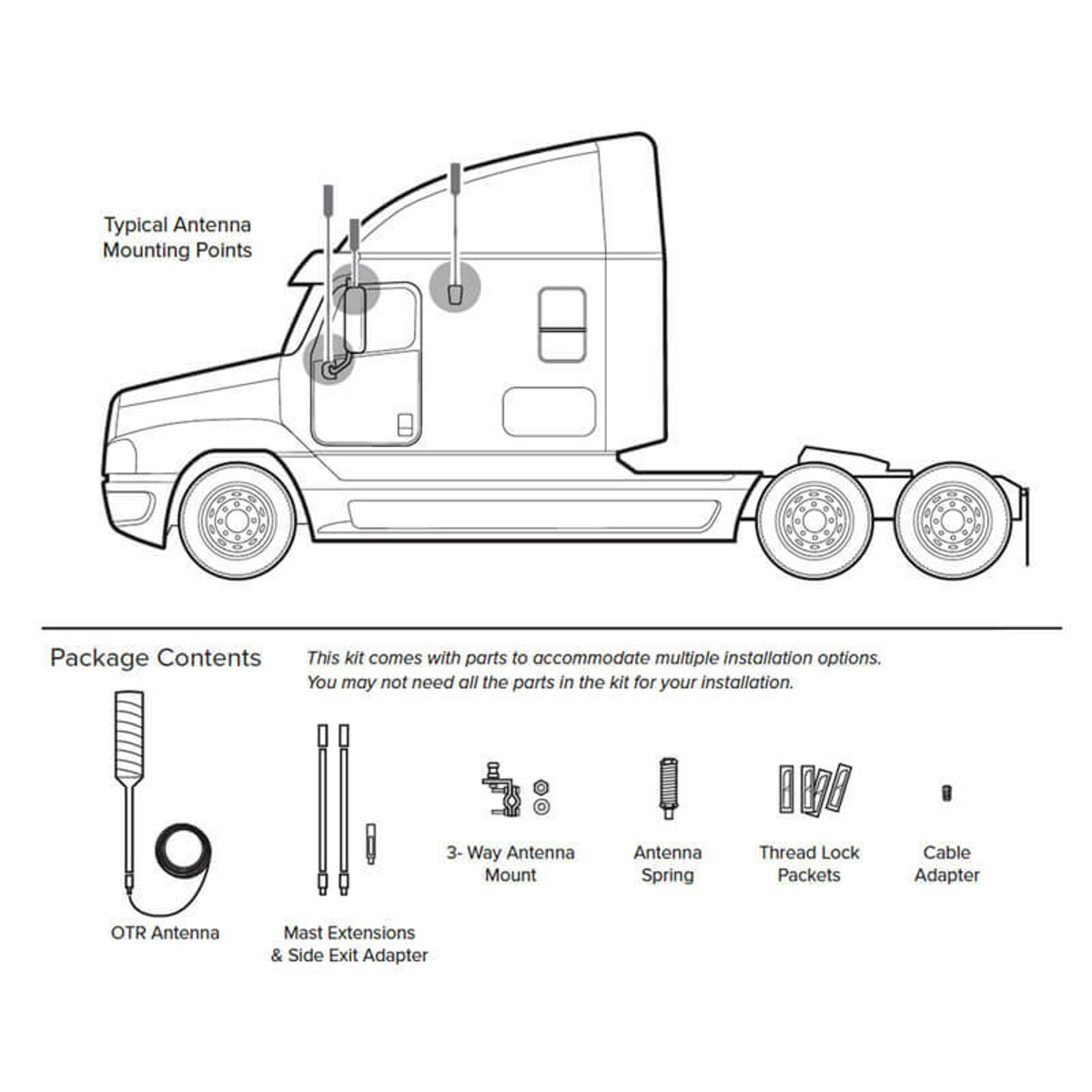 Wilson Electronics Wilson 304415 4G-OTR Antenna Truck Edition