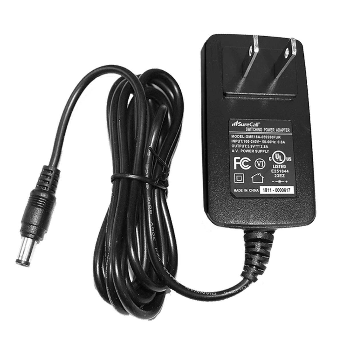 SureCall Fusion4Home Cell Phone Signal Booster AC Adapter Plug