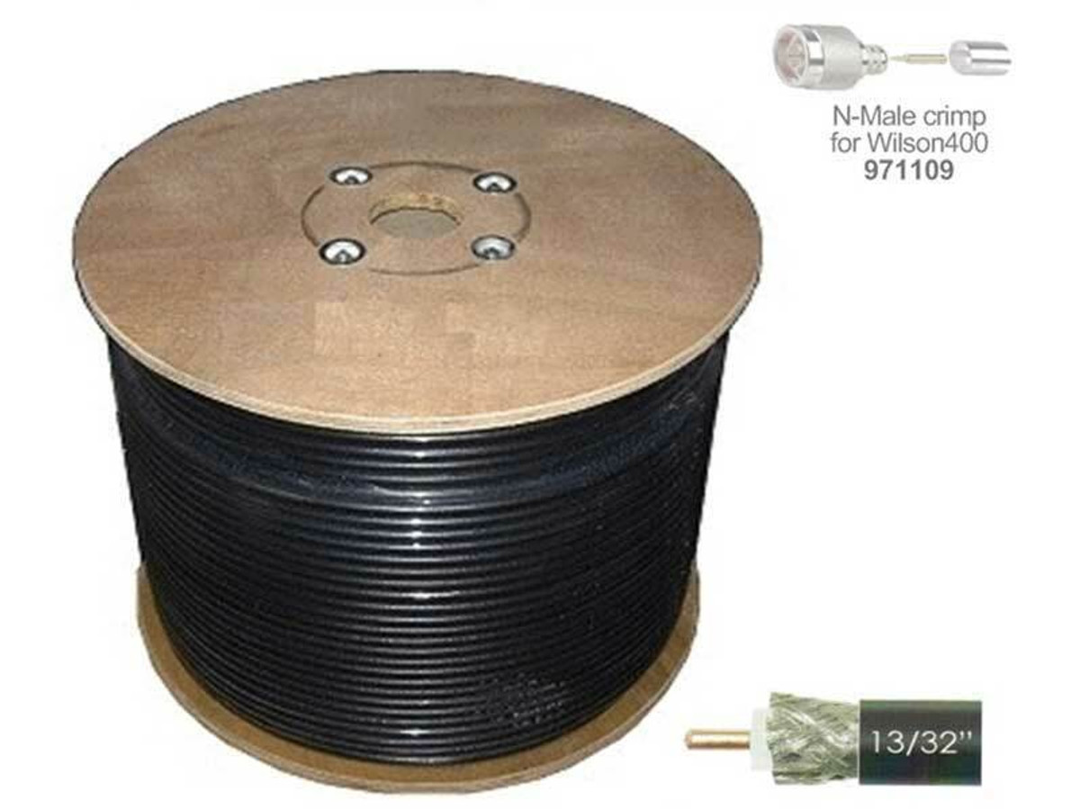 Wilson Electronics Wilson 400 N-Male to N-Male or 1000 ft Black Cable Spool - 952301